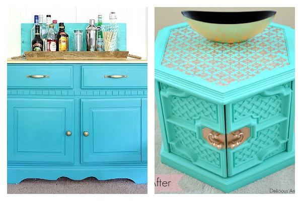 Bold and Beautiful Furniture Makeovers: Aqua Furniture Makeovers