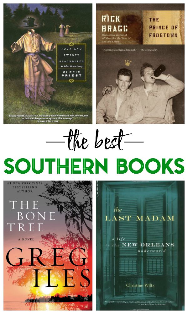 The Best Southern Books - A list of books about or set in the south that every lover of the south should read! Really great book recommendations!