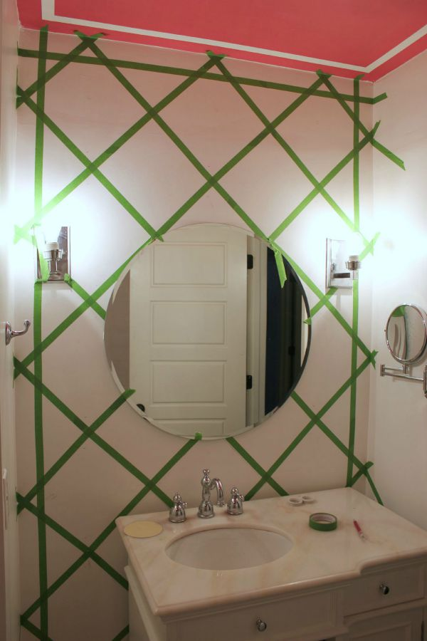 How to make a cane inspired accent wall with paint and FrogTape.