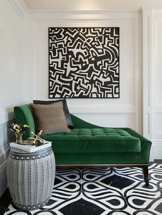 The Best Green Color Combinations for Decorating • Green and Black and White