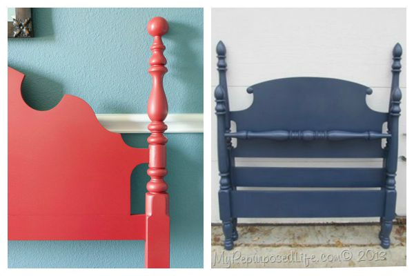 Headboard Makeovers - Patriotic Shades, Red and Blue. Painted with the HomeRight Finish Max paint sprayer - gives a flawless finish and easy to use.
