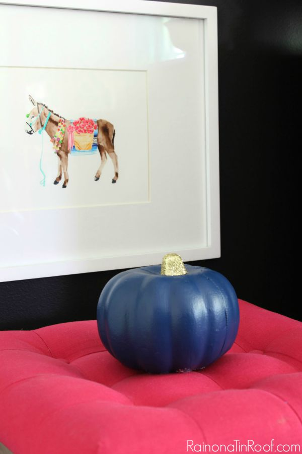 Fall Home Tour with simple fall decorating ideas / Donkey Print / Dollar Tree Painted Pumpkin