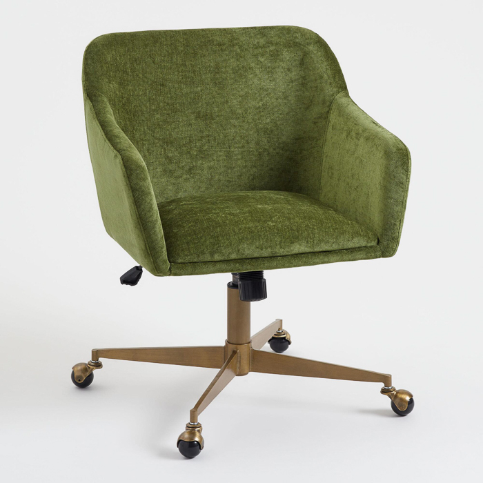 Green Velvet Pretty Office Chair