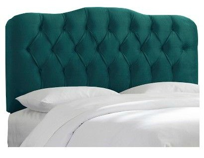 King Size Headboards for $300 or Less + Awesome Sources for all Sizes of Headboards - gorgeous selections and affordable! Green Upholstered Headboard