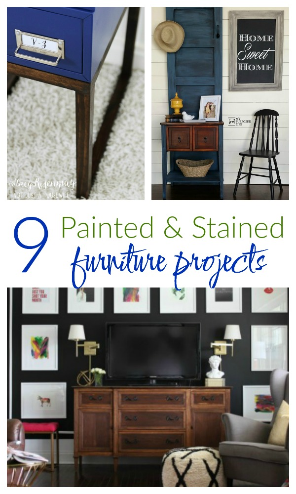 Painted and Stained Furniture Ideas | Furniture Makeover DIY | Furniture Makeover Ideas | Stained Furniture Ideas | Stained Furniture DIY | Painted Furniture Ideas