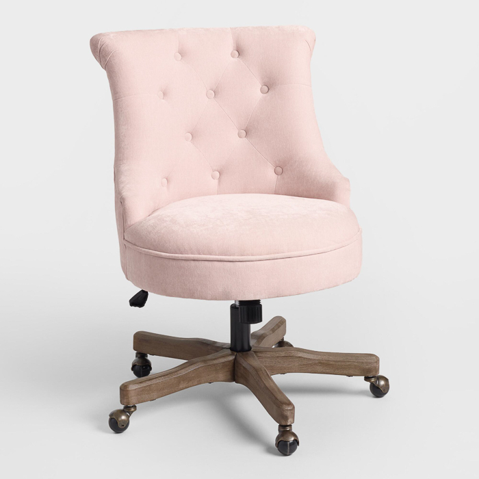 Blush Pink Office Chair