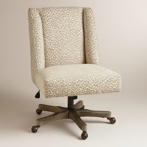 Leopard Print Desk Chair