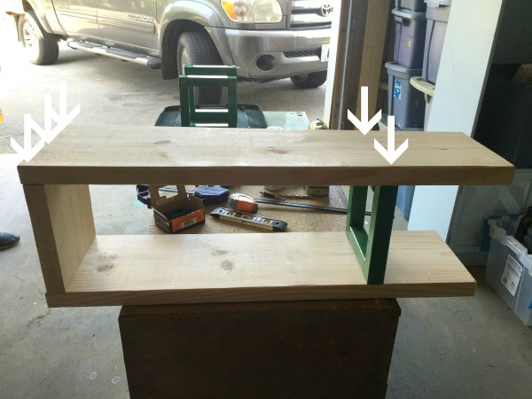 How to Build a Bookcase - attaching the shelves - Rain on a Tin Roof