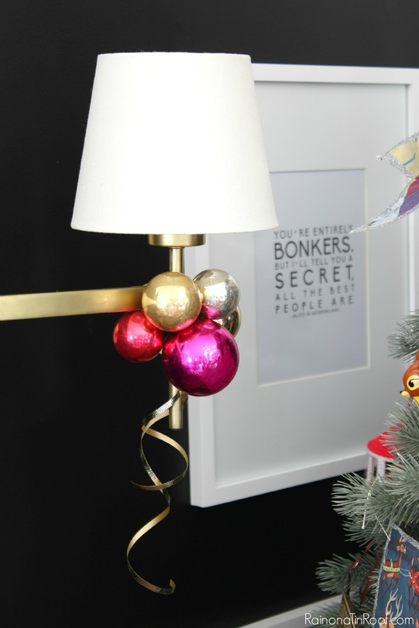DIY Christmas ornament clusters for decor