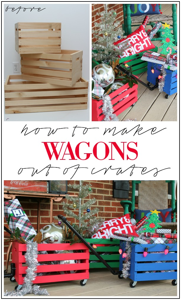 How to use prefab crates to make wagons
