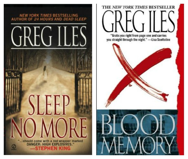 Favorite Southern Books: Greg Iles, Sleep No More and Blood Memory- thrillers both set in Natchez, Mississippi - AMAZING reads, you won't be able to put the book down!