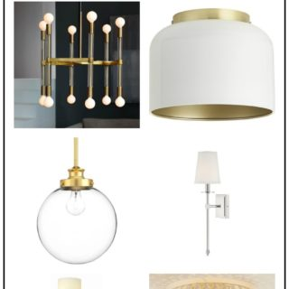 Affordable Lighting Options: Lighting for $300 or less - includes chandeliers, flush and semi-flush mount lighting, pendants and sconces. Many of the lights are less than $100!