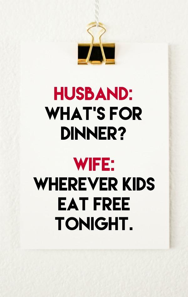 Where Do Kids Eat Free Tonight