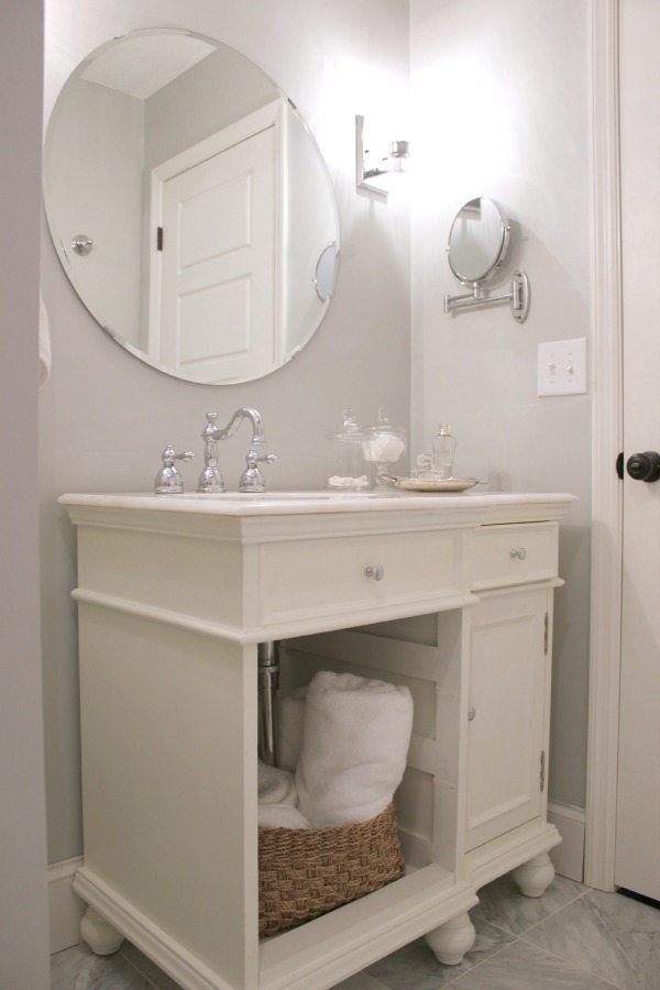 Spring Home Tour: The Evolution of Style | Gray & White Bathroom Makeover