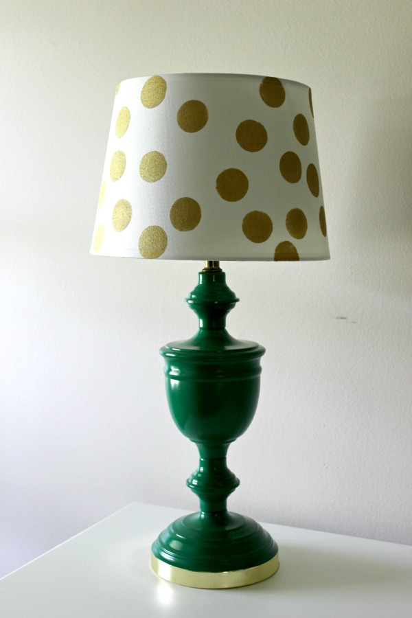 Decorating with Green: Kate Spade Inspired Lamp Makeover