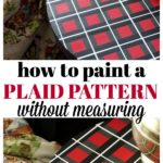That table is PAINTED - she PAINTED on that plaid pattern and it actually looks really easy. She even tells you how to do it without having to measure anything! How To Paint a Plaid Pattern | Furniture Makeovers | Furniture Painting | DIY Projects | Painting Patterns
