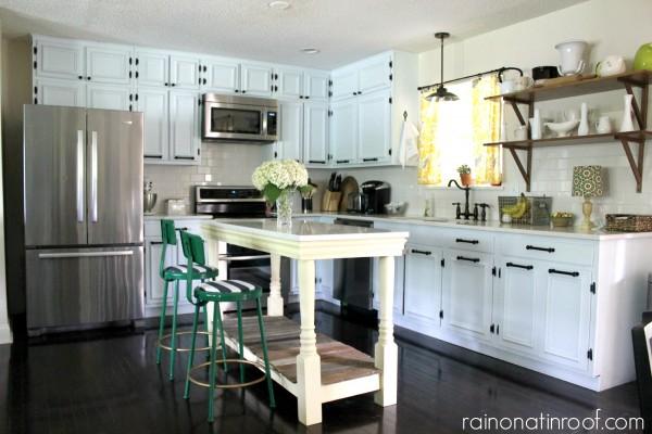 Spring Home Tour: The Evolution of Style | Kitchen Remodel | White Kitchens | DIY Kitchen Island
