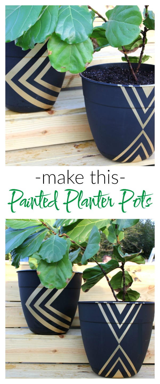 DIY Painted Planter Pots | Flower Pot Ideas | Flower Pot Crafts | DIY Flower Pots | Planter Ideas | DIY Planter Ideas | DIY Planter Pots