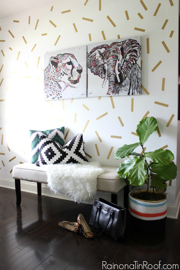 Spring Home Tour: The Evolution of Style | Gold Confetti Accent Wall