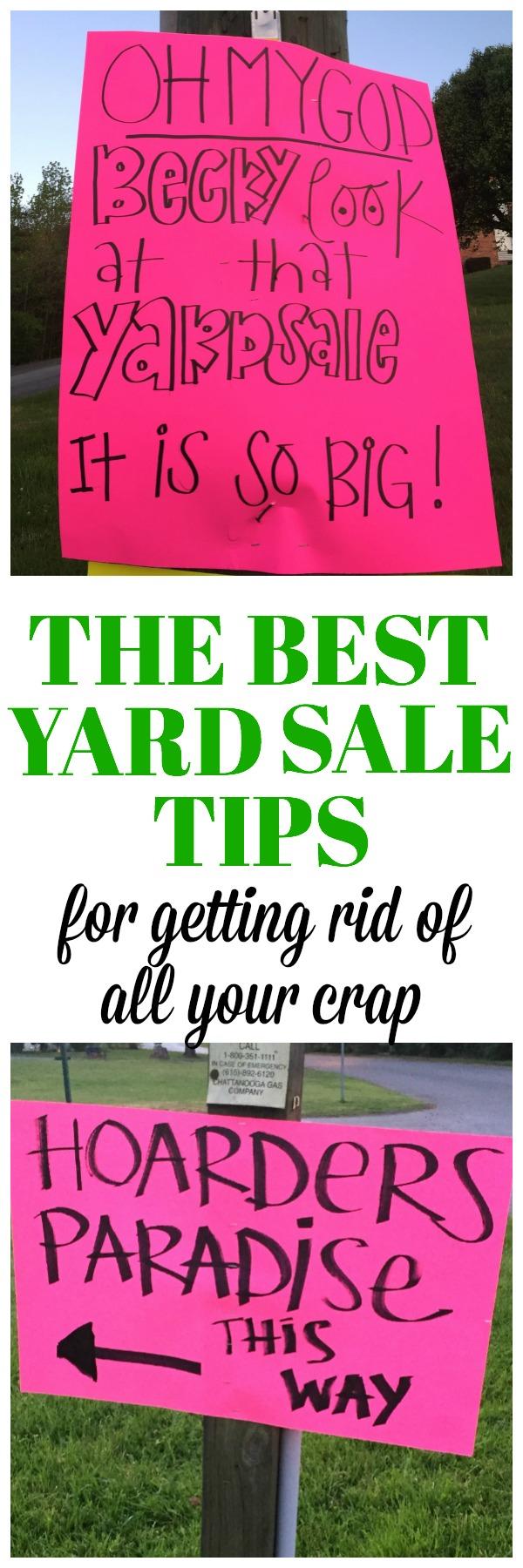 The Best Yard Sale Tips | Yard Sale Ideas | Best Yard Sale Signs | Yard Sale Pricing | Garage Sale Tips | Garage Sale Ideas