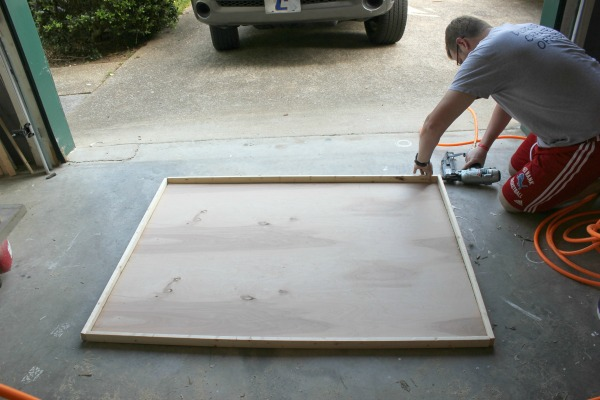 DIY Picture Frame - Assembling the frame edges - Rain on a Tin Roof
