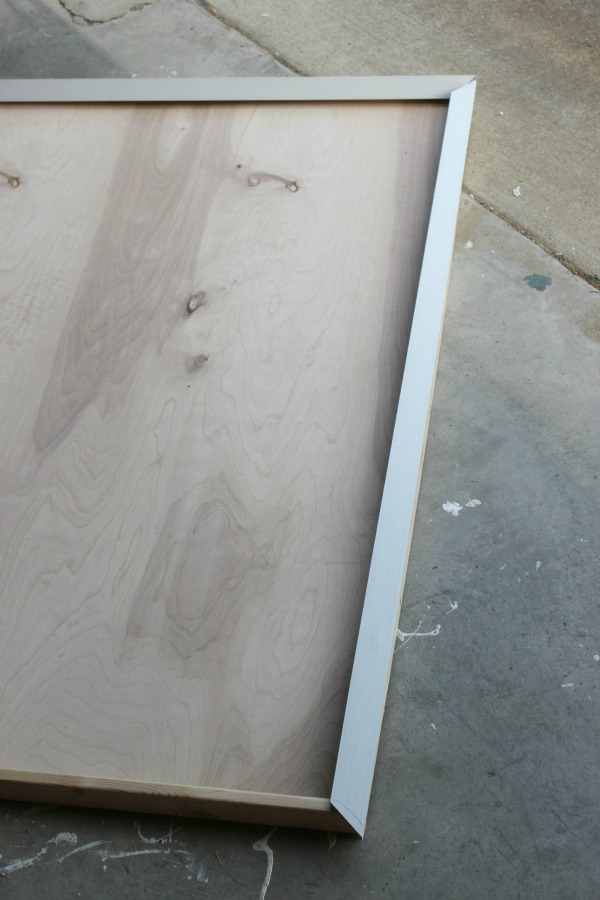 How to Make a Large Picture Frame - attaching the front edges - Rain on a Tin Roof