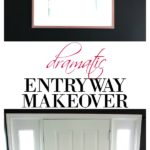 If you love black walls and dramatic interior design, you have to see this entryway makeover! It's full of deep moody colors and breathtaking art! Dramatic Entryway Makeover