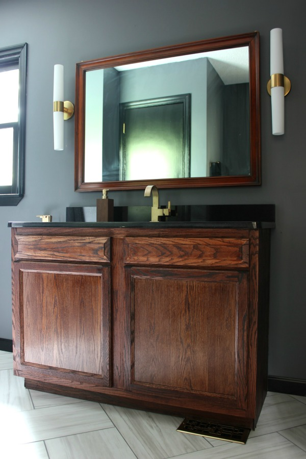 Hang a Heavy Mirror on Drywall - Bathroom Mirror - Rain on a Tin Roof