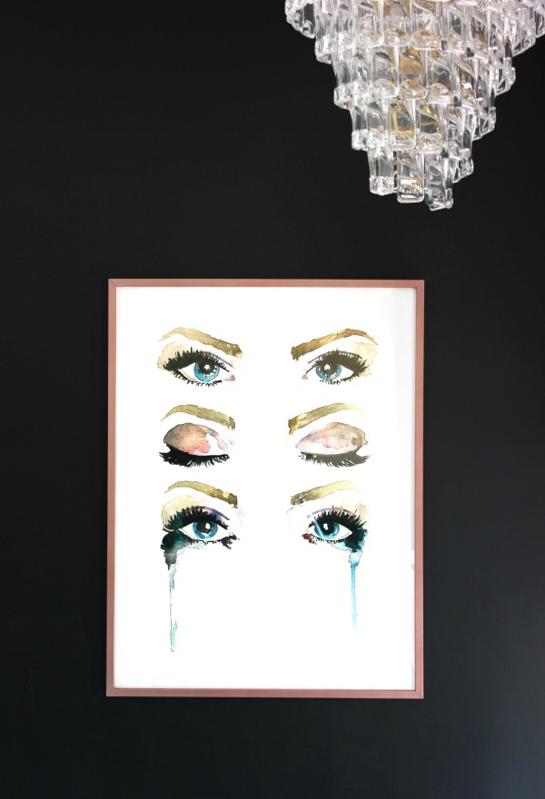How to Hang a Heavy Picture - Eyes Wall Art - Rain on a Tin Roof