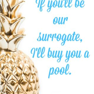 Freak Show Friday: If you'll be our surrogate, I'll buy you a pool.