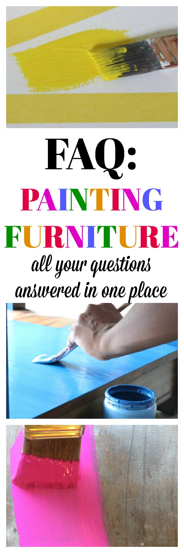 All your questions about painting furniture answered in one place. Great guide for beginners and a great reference for more experienced furniture painters.