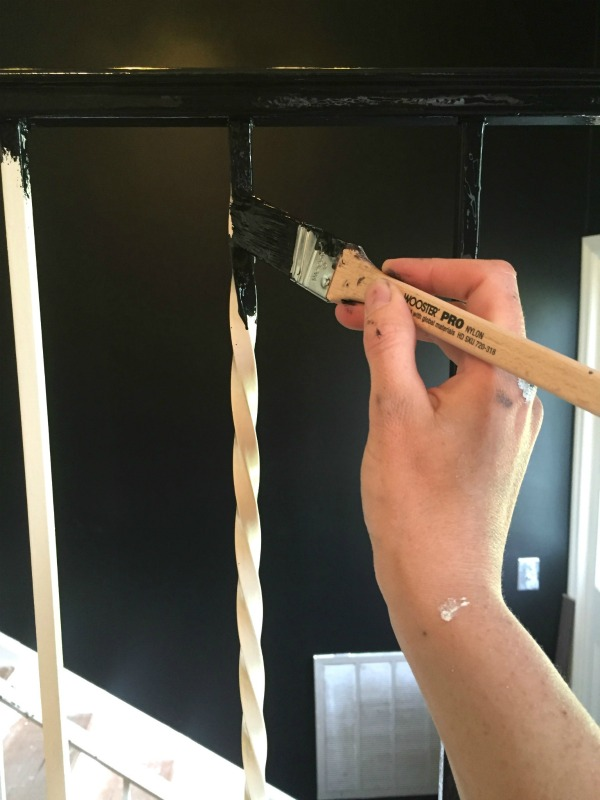 Painting Metal Handrails or Painting Metal: Use a good paintbrush and work in small sections.