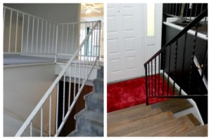 How to Paint Metal Stair Rails | How to Paint Metal | Paint for Metal Surfaces | Stair Railing Ideas | Stair Railing Makeover