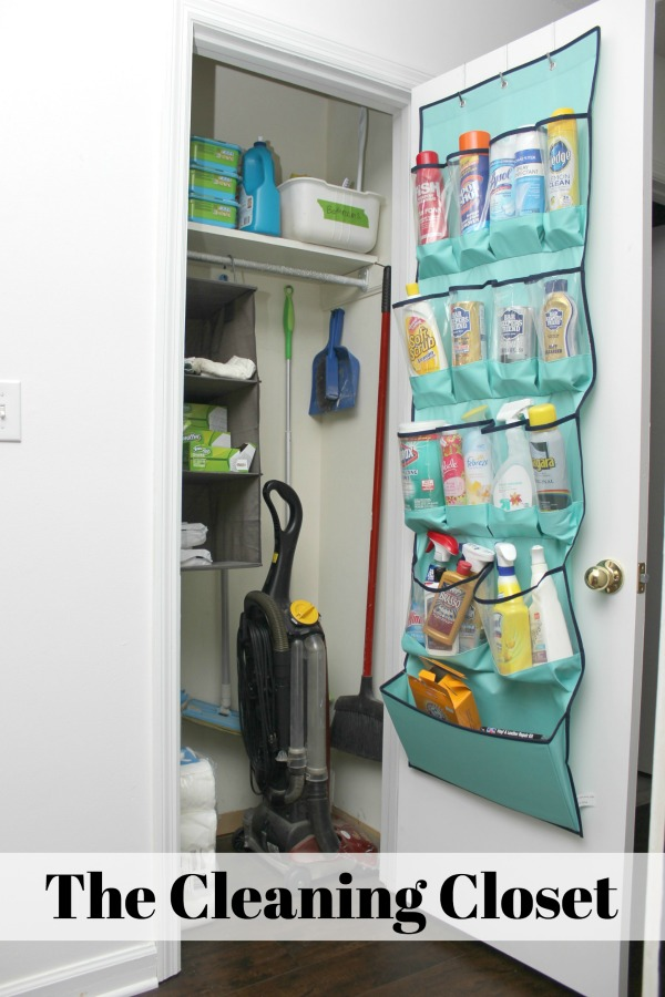 Create a cleaning closet - even more great ideas in the post! 5 Simple Storage and Organization Ideas that are Life-Changing