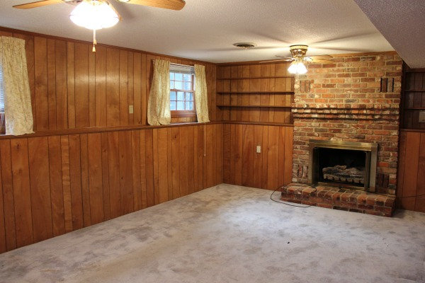 How to Make Wood Paneling Look Modern: The Paneling Before