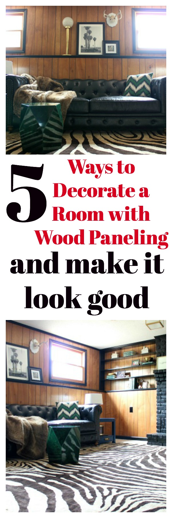 Decorate a Room with Wood Paneling Without Painting