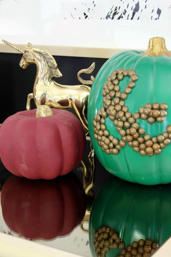 Fall Home Tour   Painted Pumpkins   DIY Ampersand Pumpkin