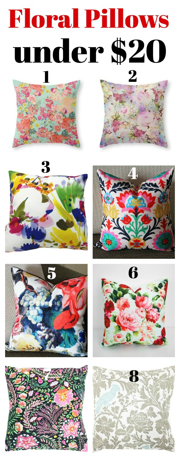 Floral Pillows Under $20 - Affordable, but stylish pillows!