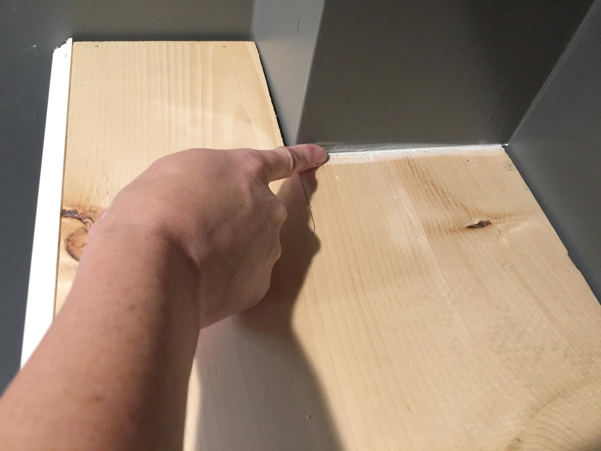 How to Paint Trim and Doors: Caulk any gaps.