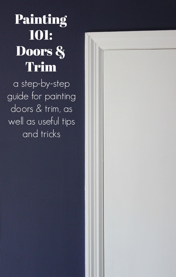 A step-by-step guide for how to paint trim and doors including what kind of paint to use, what the best tools are and how to get a professional paint job.