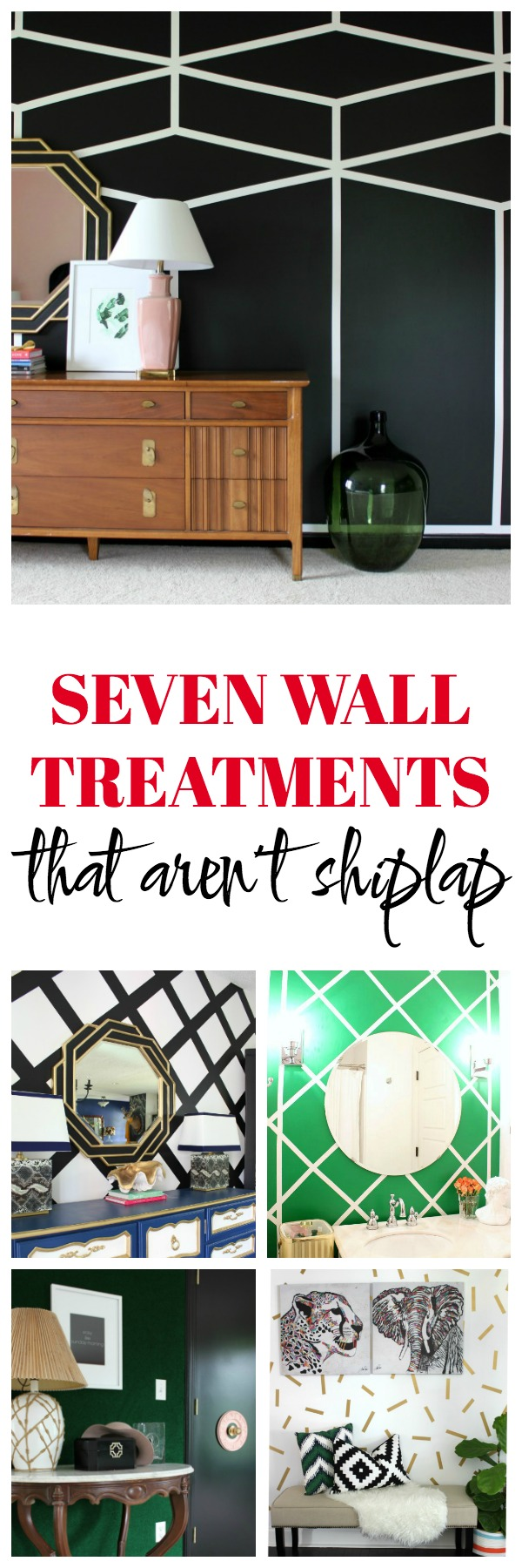 Looking to create an accent wall or feature wall that doesn't include shiplap? This post about 7 wall treatments that aren't shiplap is for you then!