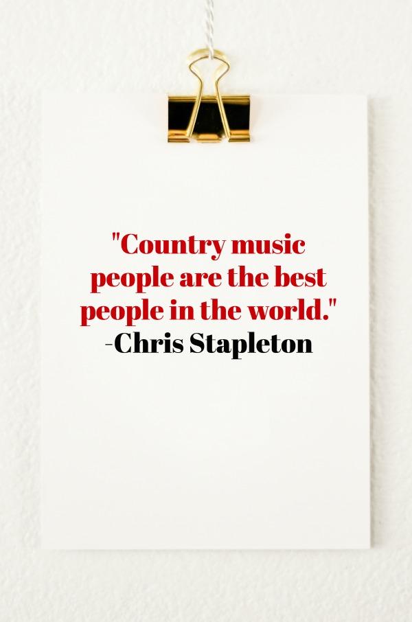 CMA Awards Emotional Roller Coaster | Chris Stapleton Quote