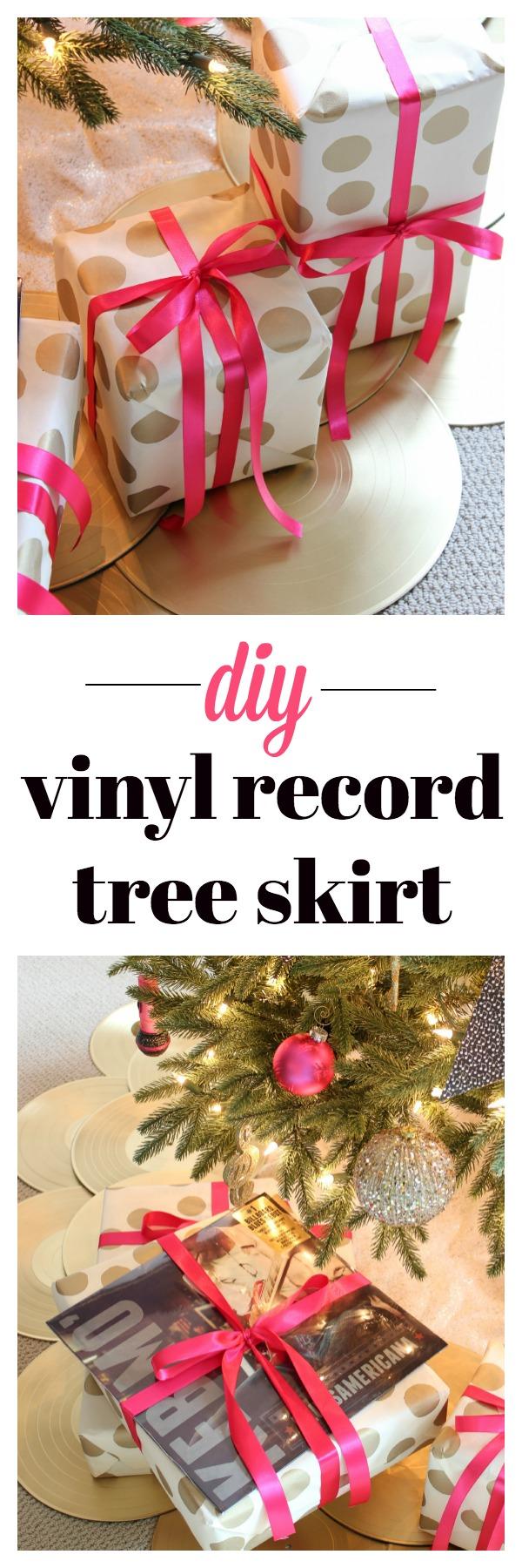 DIY Vinyl Record Tree Skirt
