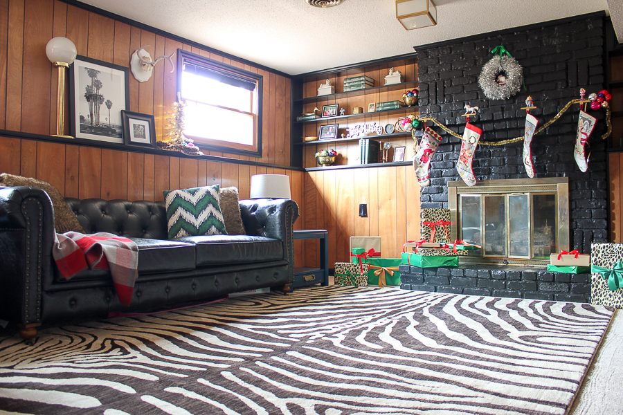 A Colorful Christmas Home Tour: Christmas Decorating in the Den