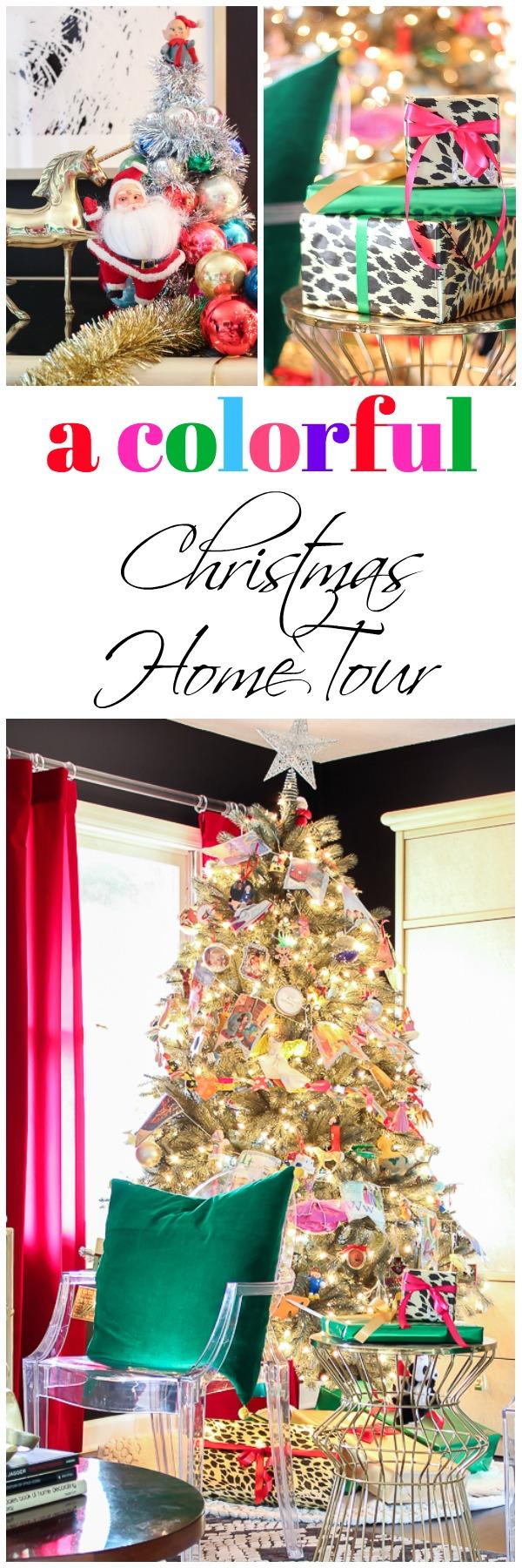 A colorful Christmas home tour