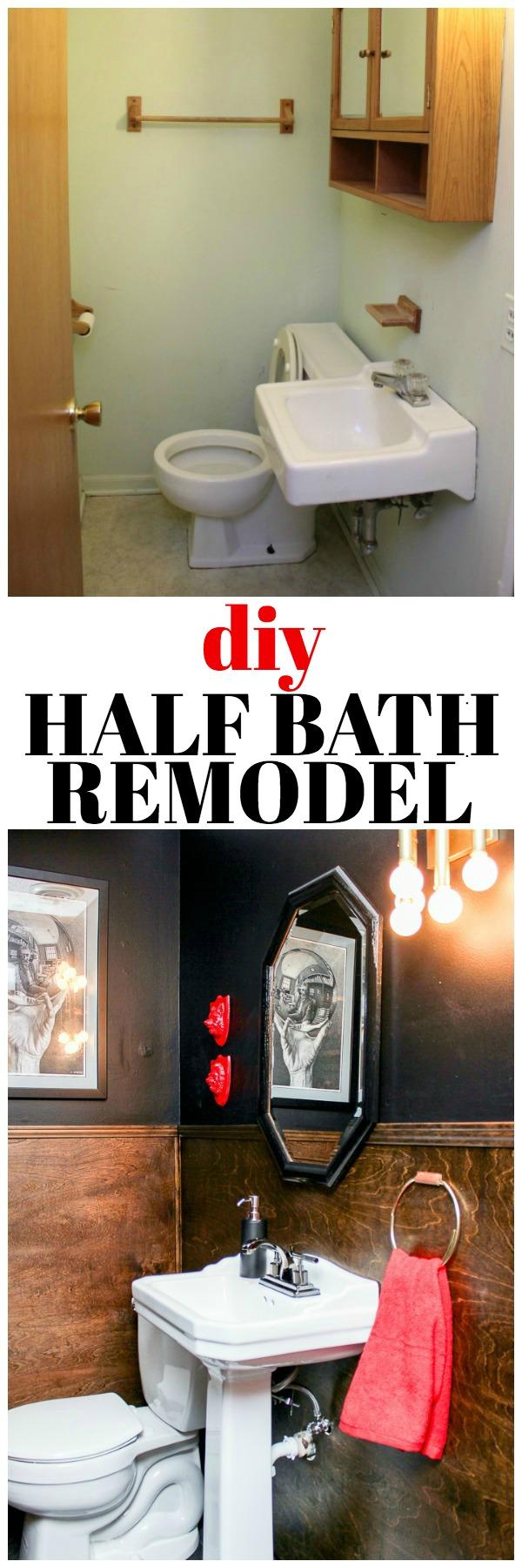 Diy Half Bath Remodel
