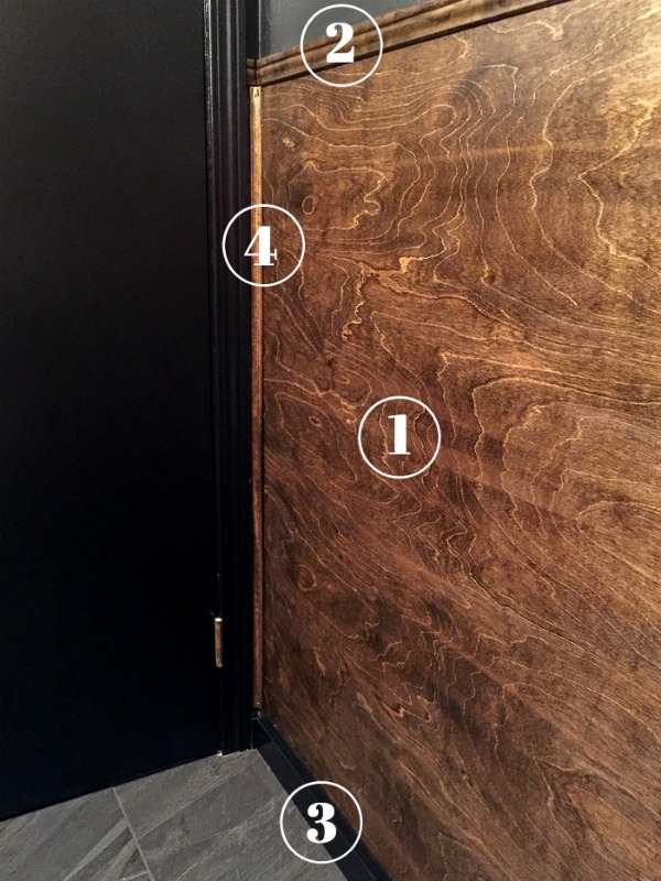 Looking for an wood wall treatment that's easy on your pocketbook? This DIY Wood Panel Wainscoting is something even a beginning DIYer can do!