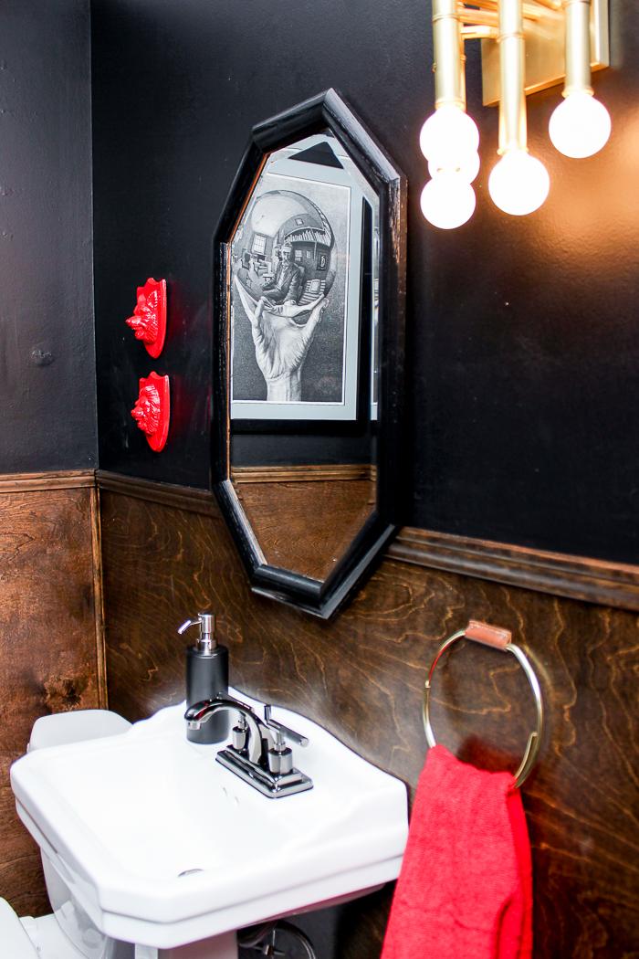 DIY Half Bath Remodel on a Budget - full of great half bathroom ideas, especially for small bathrooms.