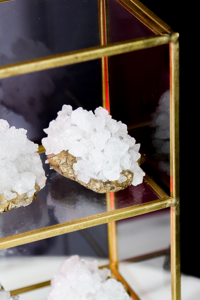 Love the crystals and geodes you're seeing in home decor, but not the price? Find out how to make faux crystals and five things to do with them here!