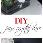 DIY Faux Crystal Vase | DIY Vase Ideas | DIY Vase Decor | Vase Decorating Ideas | Faux Crystal DIY | DIY Faux Crystals | How to Make Crystals